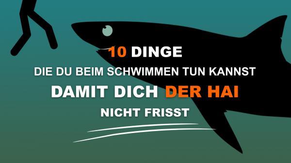 12 Dinge die du beim Schwimmen tun kannst damit dich der Hai nicht frisst