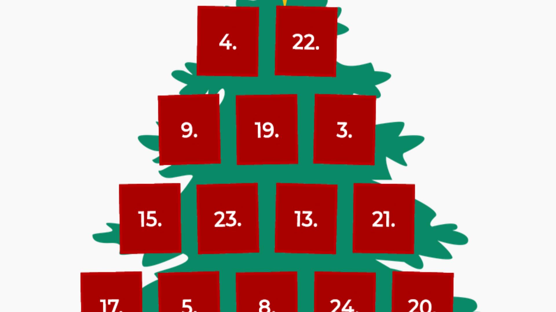 Lustiger Adventskalender mit 24 Türchen zum Mitmachen